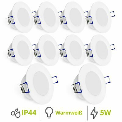 led einbaustrahler 6w flach ip65 wasserschutz f r bad dusche au en neutralwei eur 10 50. Black Bedroom Furniture Sets. Home Design Ideas