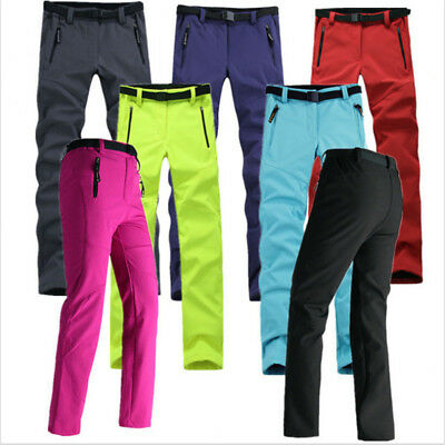 Lady Outdoor Camping Ski Hiking Waterproof Soft Shell Pants Windproof Trousers