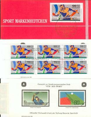 Germany booklet with s´s table tennis Tischtennis cu67