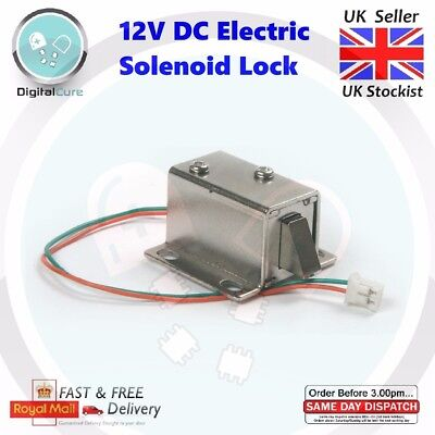 12V DC Cabinet Door Drawer Electric Solenoid Lock Assembly - RFID Arduino Pi