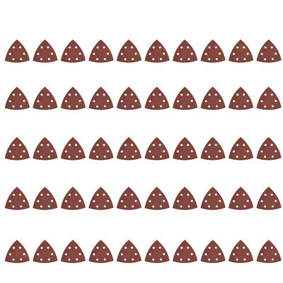 10-60pc ALUMINIUM OXIDE ASSORTED SANDING SHEETS 80mm TRIANGLE MIXED GRIT 40-240