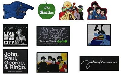 The Beatles Embroidered Iron Sew On Patch Apple Cartoon Close Up Glove #100