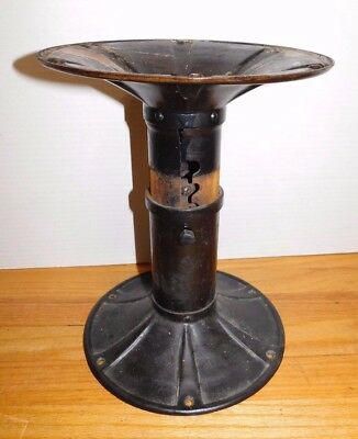 Antique Cast Iron Adjustable Base Table Chair Stool Industrial Age