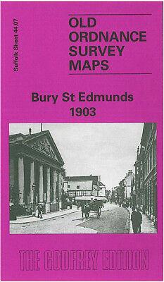 Old Ordnance Survey Map Bury St Edmunds 1903 Westgate St Cornhill Moreton Hall