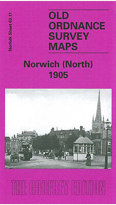 Old Ordnance Survey Map Norwich North 1905 Palace Road Gas Hill Pottergate St