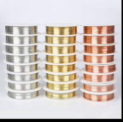 HOT wholesale Lot Soft Copper Wire/Wire line for DIY Jewelry Making 0.2-0.8mm
