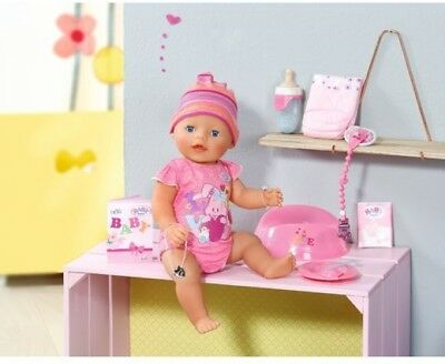NEW Girls Zapf Baby Born Interactive Newborn Baby Girl Doll with Accessories