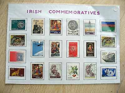 set of 20 stamps -  Irish commemoratives    set B