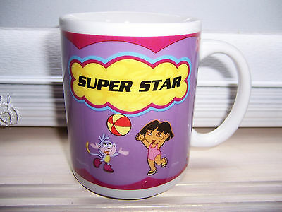 Dora The Explorer SUPER STAR Mug Cup Dora & Boots Coffee Tea Hot Chocolate Mug