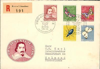 Swiss Michel Nr. 632-636 on FDC Pro Juventute 1956 hq94
