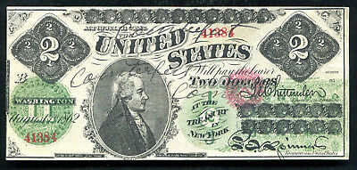 "FR. 41a 1862 $2 LEGAL TENDER UNITED STATES NOTE ""CONTEMPORARY FAUX"" RARE"