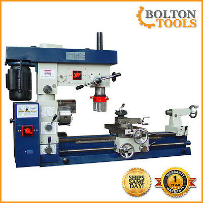 "Bolton Tools 12"" x 30"" Metal Lathe Mill Drill Milling Combo Machine AT750"