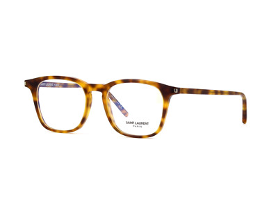 Saint Laurent  SL 147 003 Eyeglasses Havana Brown Square Frame 49 mm