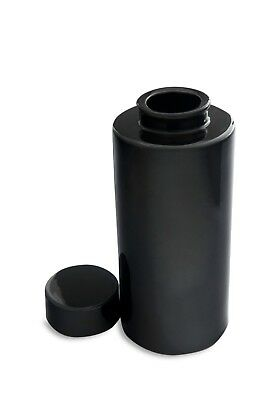Black Glazed Ceramic Ming Style Vase, Lid Included, Excellent Condition