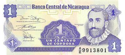 Nicaragua 1 Centavo, ND 1991 P.167 Uncirculated Unc