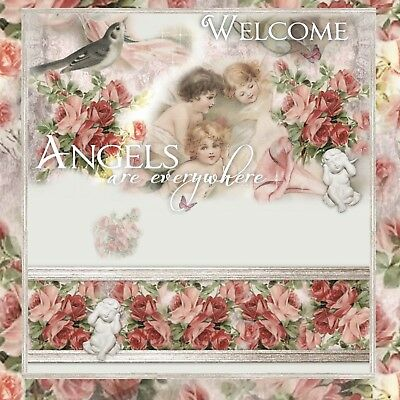 Angel Shabby Roses ~  Auction Listing Template Mobile friendly Responsive |500 E