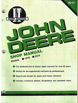 John Deere SHOP MANUAL 1010 & 2010 TRACTORS. Complete, Detailed I&T Manual, 1962