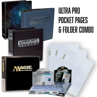 Ultra Pro Collectors Trading Card Ring Album/binder - For A4 9 Pocket Sleeves