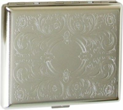 Cigarette Case Regular, King Size or 100's Double Sided Crush-Proof Metal - 3023