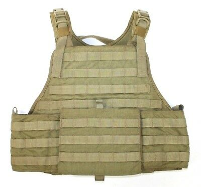 Eagle Industries SFLCS MBAV L/XL MJK Khaki Tan Plate Carrier Vest MBSS Grade A-