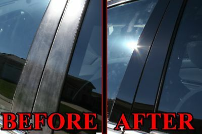 Black Pillar Posts for Lincoln MKT 10-15 8pc Set Door Trim Piano Cover Kit