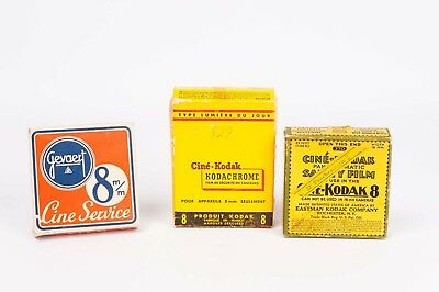 Cine- Kodak 8mm / Gevaert  box and reel old  amateur movies
