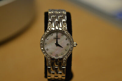 Concord Les Palais 14K Solid White Gold and Diamond Ladies Watch * Pre-owned*