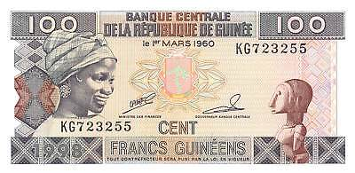 Guinea 100 Francs Law 1960 1998, P.35  Uncirculated Unc