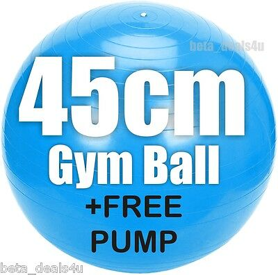45Cm Size Blue Fitness Exercise Swiss Fit Yoga Class Gym Ball Core Gymball &pump