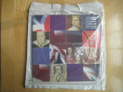 UK 2002 Brilliant Uncirculated Coin Collection in presentation folder sealed