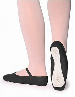 ROCH VALLEY OPHELIA BALLET SHOES PINK BLACK WHITE LEATHER SUPPORT ELASTIC