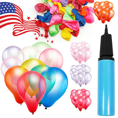 "100pcs 12"" Premium Latex Balloons Colorful Thickening Wedding Birthday Party USA"