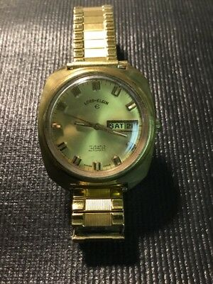 Vintage Original Lord Elgin Men's Automatic Watch 17 jewels Runs Great!