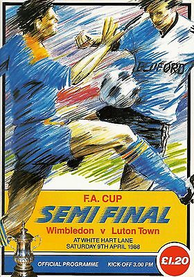 Wimbledon v Luton Town - FA Cup Semi-Final - 09 April 1988