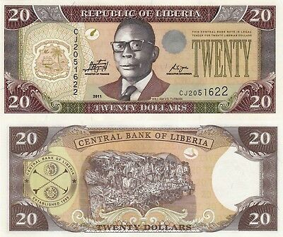 Liberia 20 Dollars (2011) - Samuel Doe/Palm Nuts/p28f UNC