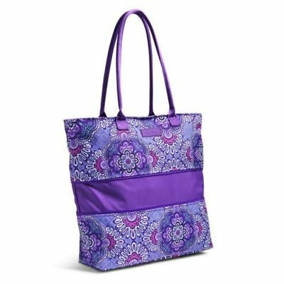 Vera Bradley Lighten Up Expandable Travel Bag Tote Lilac Tapestry Purple NEW