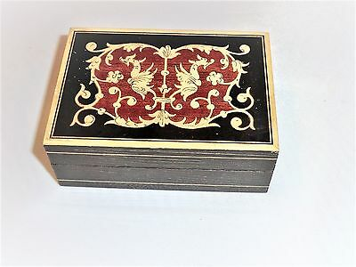 Old Decorative Box With Pretty Decorative Wooden Inlaid Pattern