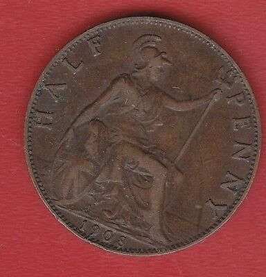 Great Britain Half Penny 1908