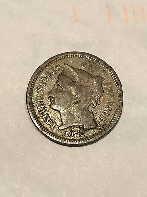 1873 Three Cent Nickel, Nice Coin,