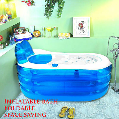 Portable Foldable Inflatable Blowup PVC Bath Tub Indoor Home Travel Spa Bathtubs