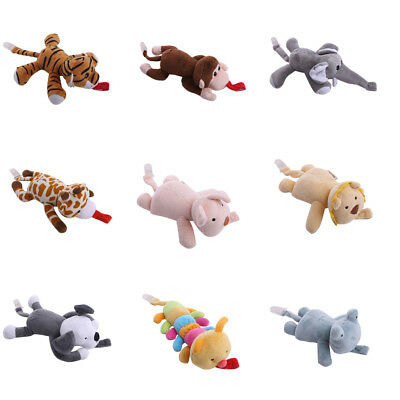 AU Baby Girl Boy Dummy Pacifier Chain Clip Animal Toys Plush Nipples Holders CL