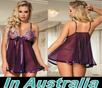 Plus Size 6XL 22 24 Babydoll nightie sleepwear womens Chemise lingerie Pantie