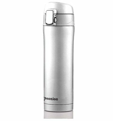 Insulated Stainless Steel Vacuum Flask Travel Mug Thermos Bottle Silver 16 oz