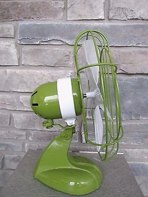 Vtg Chicago Electric Handybreeze Oscillating Fan Refurb Custom Paint Working