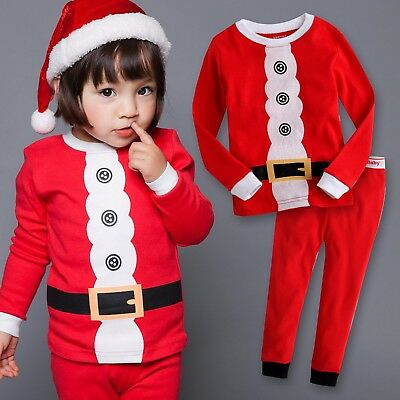 "Vaenait Baby Kids Boys Girls Christmas Clothes Pajama Set ""Hi Elf"" 12M-7T"
