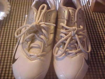 Womens Lacrosse Shoes 8 1/2 Nike Speed White/silver