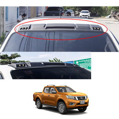 For Nissan NP300 Navara 2014 15 2016 17 Front Gap Roof Spoiler LEDs Matte Black