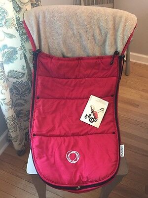 Bugaboo Foot Muff, Red for Frog, Cameleon, Gekko Good Condition Incl Manual