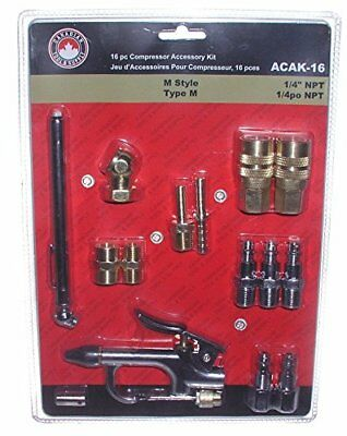 Canadian Tool and Supply 16 Piece Air Tool and Compressor Accessory Kit (ACAK...