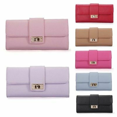 Fashion Women Leather Bifold Wallet Clutch Card Holder Purse Lady Long Handbag